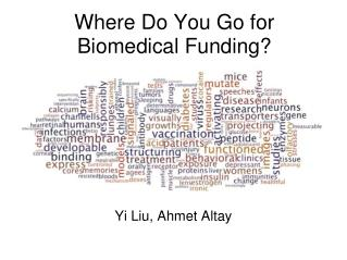 Where Do You Go for Biomedical Funding?