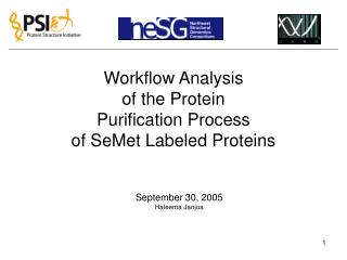 Workflow Analysis  of the Protein  Purification Process of SeMet Labeled Proteins