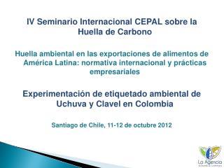 IV Seminario Internacional CEPAL sobre la Huella de Carbono