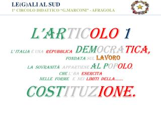 """LE(G)ALI AL SUD 1° CIRCOLO DIDATTICO """" G.MARCONI """" - AFRAGOLA"""