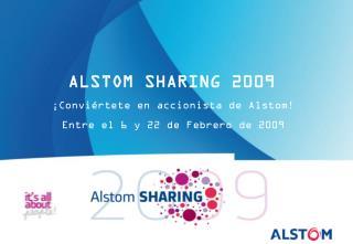 ¡Conviértete en accionista de Alstom! Entre el 6 y 22 de Febrero de 2009