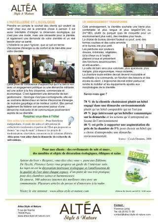 Altéa Style et Nature 5 rue de Vienne 75008 Paris altea-style-et-nature