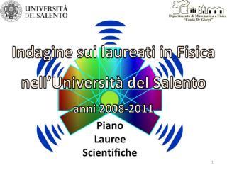 Indagine sui laureati in Fisica nell'Università del Salento anni 2008-2011