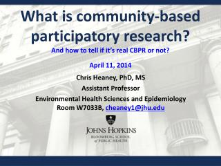 What is community-based participatory research? And how to tell if it�s real CBPR or not ?