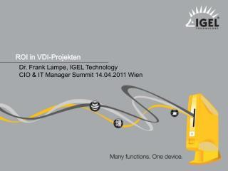 ROI in VDI-Projekten