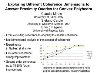 Exploring Different Coherence Dimensions to Answer Proximity Queries for Convex Polyhedra