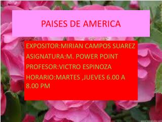 PAISES DE AMERICA