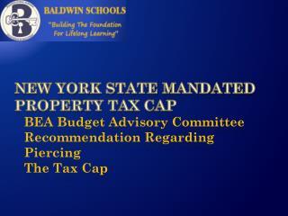 New York State mandated Property Tax Cap