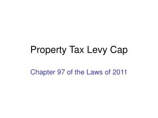 Property Tax Levy Cap