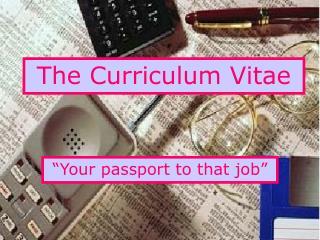 The Curriculum Vitae