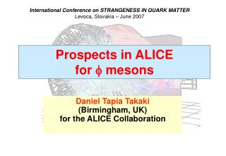 Prospects in ALICE  for  f  mesons