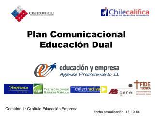 Plan Comunicacional Educación Dual
