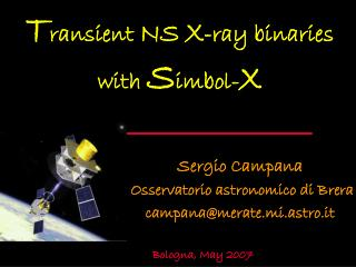 T ransient  NS X -ray binaries                   with  S imbol- X