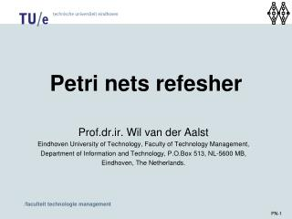 Petri nets refesher