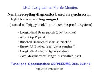 LHC- Longitudinal Profile Monitor.