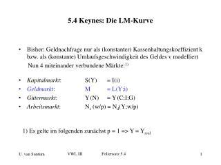 5.4 Keynes: Die LM-Kurve