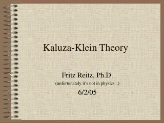 Kaluza-Klein Theory