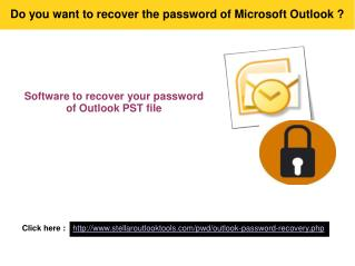 Apply Outlook Password recovery when forgot PST password