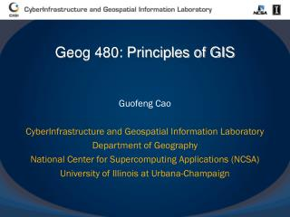 Guofeng Cao CyberInfrastructure and Geospatial Information Laboratory  Department of Geography