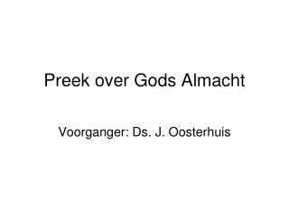 Preek over Gods Almacht