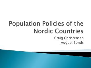 Population Policies of the Nordic Countries