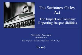 effect of the sarbanes oxley act of 2002 essay The sarbanes-oxley act of 2002 has had a tremendous impact on large and  small companies the act was intended to hold to accountability those  individuals.
