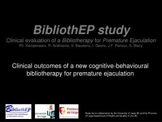 Clinical outcomes of a new cognitive-behavioural bibliotherapy for premature ejaculation