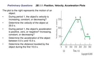 Preliminary Questions 	 2B.1.1: Position, Velocity, Acceleration Plots