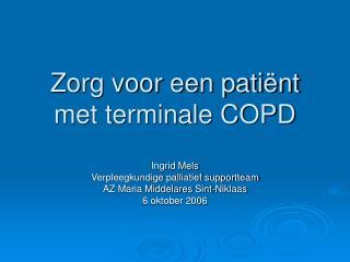 Zorg voor een pati�nt met terminale COPD