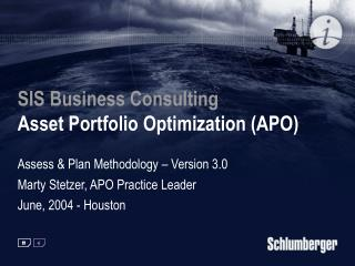 SIS Business Consulting  Asset Portfolio Optimization (APO)