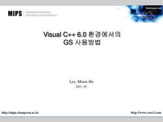 Visual C++ 6.0  환경에서의 GS  사용방법