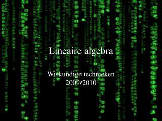 Lineaire algebra