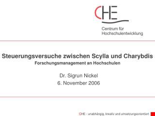 Steuerungsversuche zwischen Scylla und Charybdis Forschungsmanagement an Hochschulen