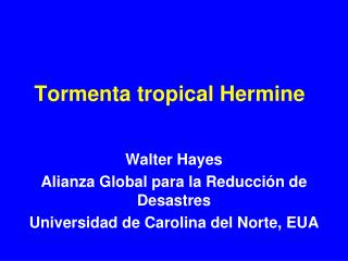 Tormenta tropical Hermine