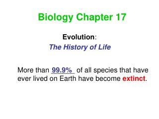 Biology Chapter 17