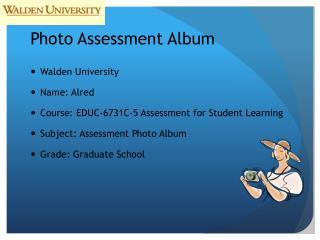 Photo Assessment Album