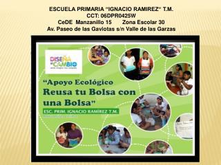 "ESCUELA PRIMARIA ""IGNACIO RAMIREZ"" T.M. CCT: 06DPR0425W CeDE  Manzanillo 15       Zona Escolar 30"