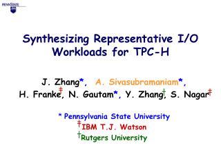 Synthesizing Representative I