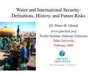 Water and International Security: Definitions, History, and Future Risks