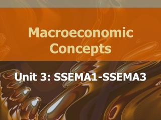 Macroeconomic Concepts