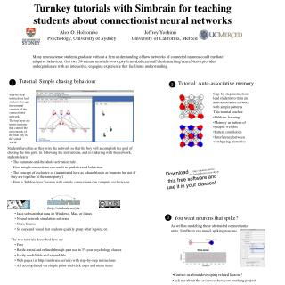 Turnkey tutorials with Simbrain for teaching students about connectionist neural networks