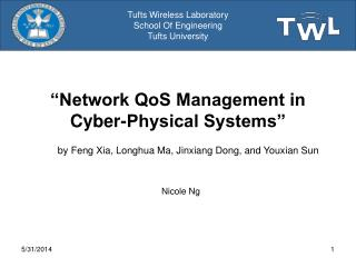 Network QoS Management in Cyber-Physical Systems