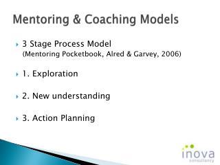 Mentoring & Coaching Models