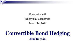 Convertible Bond Hedging Jane Buchan