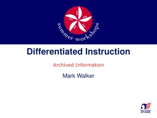 Differentiated Instruction Archived Information