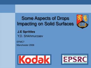 Some Aspects of Drops Impacting on Solid Surfaces