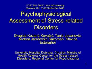 Psychophysiological Assessment of Stress-related Disorders