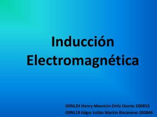 Inducci�n Electromagn�tica