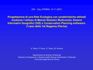 GIS – Day (PARMA, 14-11-2007)