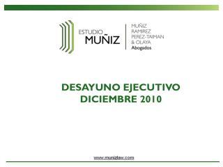 DESAYUNO EJECUTIVO DICIEMBRE 2010